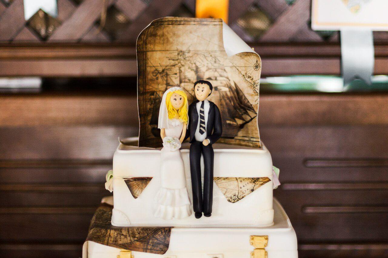 Свадьба в стиле путешествия Шале Могилев Организация свадьбы декор украшение зала свадебное агентство ЛавМи торт с фигурками