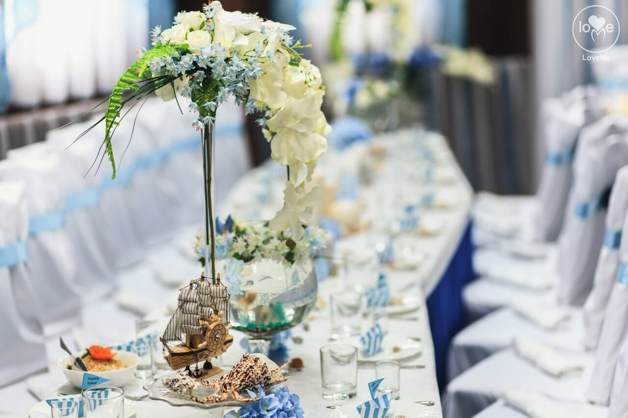 Санта Мария морская свадьба Могилев организация и декор свадьбы украшение зала