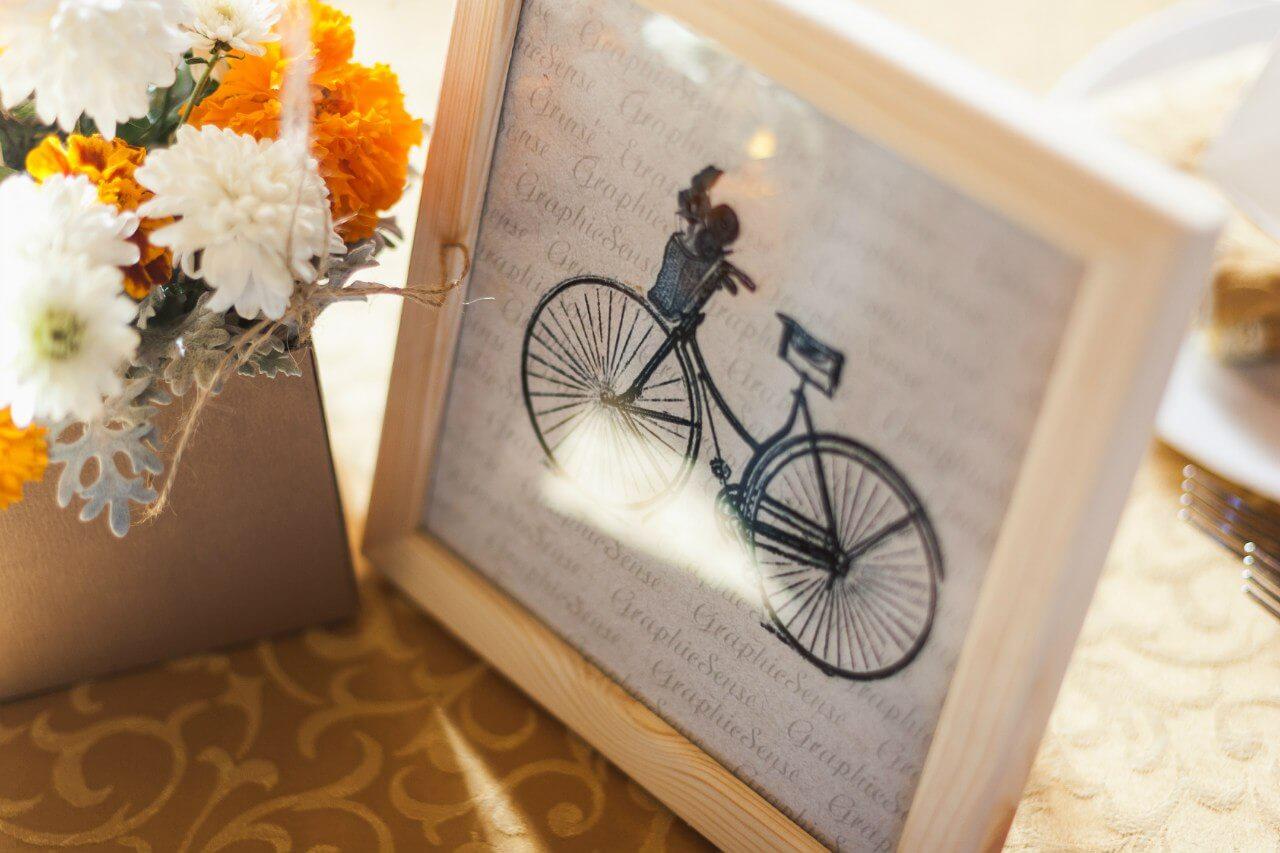 фото велосипеда Свадьба в стиле путешествия Шале Могилев Организация свадьбы декор украшение зала свадебное агентство ЛавМи