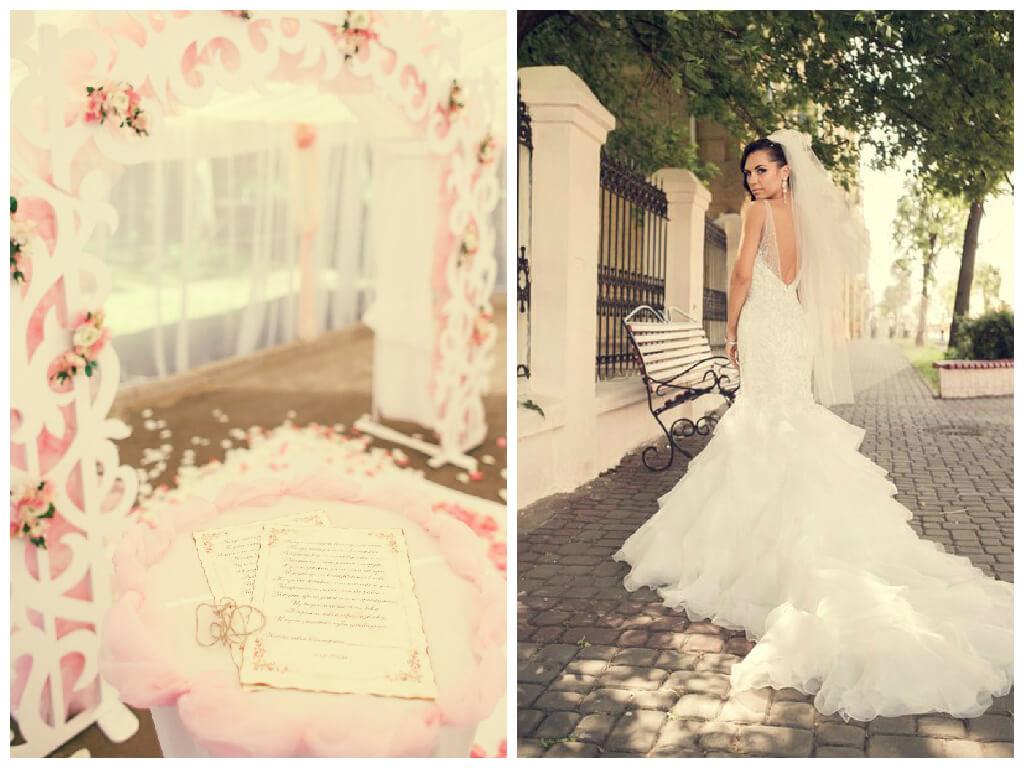 свадьба бело-розовая в стиле сваровски выездная регистрация декор банкета свадебное агентство ЛавМи Могилев печерское предместье