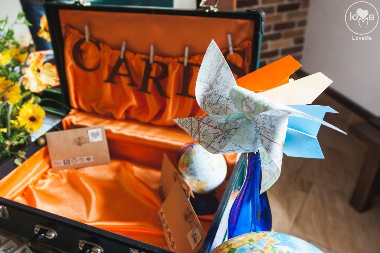 чемодан Свадьба в стиле путешествия Шале Могилев Организация свадьбы декор украшение зала свадебное агентство ЛавМи
